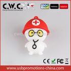 Cartoon doctor USB flash drive with USB LOGO Custom Solution PVC/SILICONE USB CE/ROHS/FCC Mould fee 60 USD Mould time 3 days