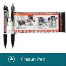 Classical Black Promotional Click Pull Out Banner Ball Pen, Advertising Pen,Cheap Flyer Pen