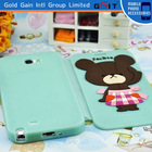 Smart Phone Protective With Front Cover For Samsung Note 2 N7100 Case