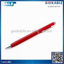 Customized professional capacitive aluminum stylus pen black