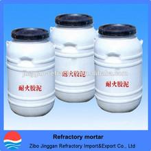 High-temperature refractory mortar