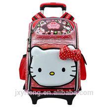 2014 OEM eva fashion girl wholesale hello kitty kids trolley bag for school bags for teenage girls