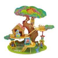 2014 New Wooden Toy 3D DIY Building Puzzle Model for Children