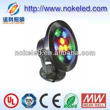 High Power 12V DC IP68 UL CE 9 watt underwater lamp holder