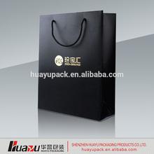 OEM Fashionalbe Customized Luxury Black Paper Bag for Shopping