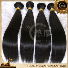 Hot selling Natural black natural straight virgin russian human hair