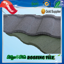 glazed metal roof tile Nigeria Hot Sale Villa light weight fake spanish tile roof