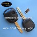 topbest toyota 2 botón de shell remotos clave sin logotipo de la etiqueta con