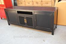 Antique Living Room Furniture Wooden Black TV Cabinet