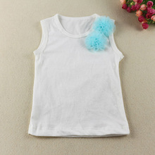2014Hot Sale!Baby girls Tank Top for Lovely Petti Top for Baby Girls sleeveless boutique baby clothing with ruffled flower