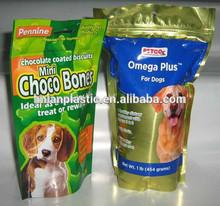 custom printed plastic ziplock pet food bag/reclosable pet food bag