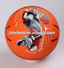 yiwu color rubber basketball orange basketball size 7 rubber basketball promotional rubber basketball factory produce