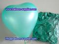 Balão de coração para a decoração do casamento/verde coração balão