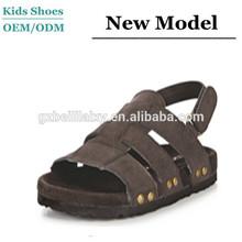 Customized comfort PU velcro shoes chappals sansals rivet child Sandals for boy 2014