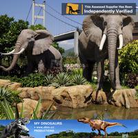 My Dino-amusement park scale animal mammoth model