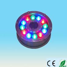 china supplier new product 100-240v 12V 24V 9w 12w ip65 RGB underwater led rgb lights marine