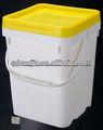 Balde de 5 galões multi - função baldes de plástico com tampas e alças quadrado preto de armazenamento balde de plástico balde retangular balde