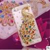 Peacock Mobile Phone Case For IPhone6,peacock rhinestone phone case
