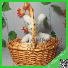 Hot sale handmade basket gift,empty wicker gift baskets,small round wicker baskets