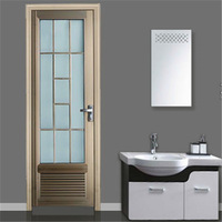 Aluminum casement door with highly popularity among clients