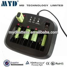 6-slot universal 1.5v AA/AAA/C/D/9V super universal battery charger