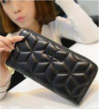 2014 Fashion Plaid Wallet Women Ladies Purses And Handbags