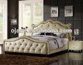Estilo francês de luxo do hotel e mobília do quarto cama queen size design barroco ojc-024