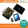 60W laptop solar charger for notebook phone 12v 16v 19v 5v