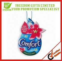 Best Selling Custom Logo Paper Car Air Freshener