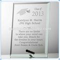 Cristal de la placa de la graduación Memorial recuerdo para la universidad fuente de alimentación