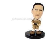 Resin customized bobble head figure, your own bobble head