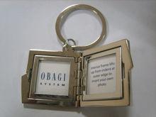 Wholesale metal photo frame key chain