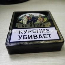 rectangle cigarettes tin box with hinge