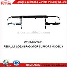 SUYANG STEEL CAR PARTS RADIATOR BRACKET RENAULT LOGAN RADIATOR SUPPORT MODEL 3