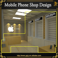 mobile phone wall holder for phone shop interior design