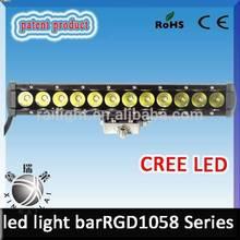 13 inch cree led light waterproof IP 68 high lumen single row 60w car outdoor led flood light bar