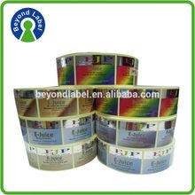 wholesale customer design e liquid label sticker for plastic bottle packaging ,adhesive waterproof e-liquid bottle sticker