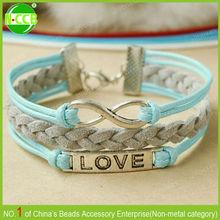 2014 New arrival infinity love bracelet vintage cheap love bracelet