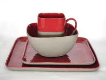 High temperature color porcelain square ceramic dinnerware set