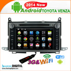 TYT-7101GDA support wireless i-pod audio and video ( Mirror-Link) toyota venza car navigation system