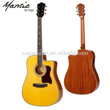 Mantic guitarra acústica con hermosa guitarra rosetas, ag620sce