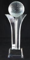top design crystal golf ball trophy for golf award