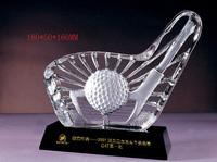 newest designed crystal golf ball base for decoration