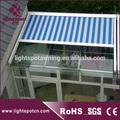 Retrátil telhado de vidro/garagem toldo/alumínio pergola