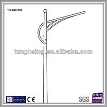 Frp poste de iluminación con FRP base - galvanizado de acero del brazo de un solo brazo - lista de precios