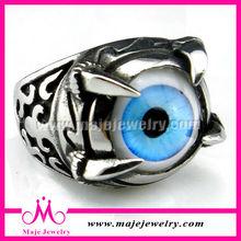 fashion evil eye ring jewelry retro punk biker men ring