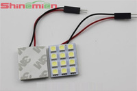 Car Decoration T10 12SMD LED Dome Panel Light DC 12V