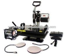 Multi-function heat press machine/hot stamping machine for mugs/t-shirts/plates/caps 8 in1
