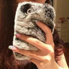 Luxury Warm Rabbit Fur Cellphone Cases for iPhone 4 4s Accessory