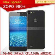 in stock! original 5.0 inch FHD screen Zopo ZP980+ 1.7 GHz octa core cortex A7 CPU 1g ram16g rom MTK6592 hand phone android